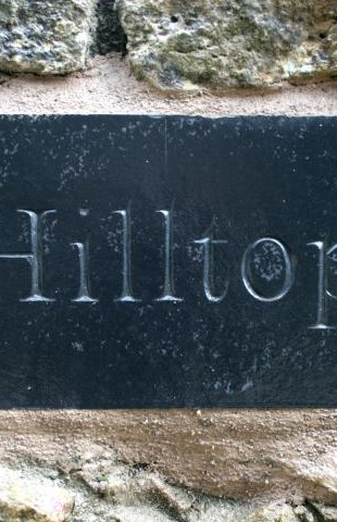 Hilltop House Sign by John Joekes